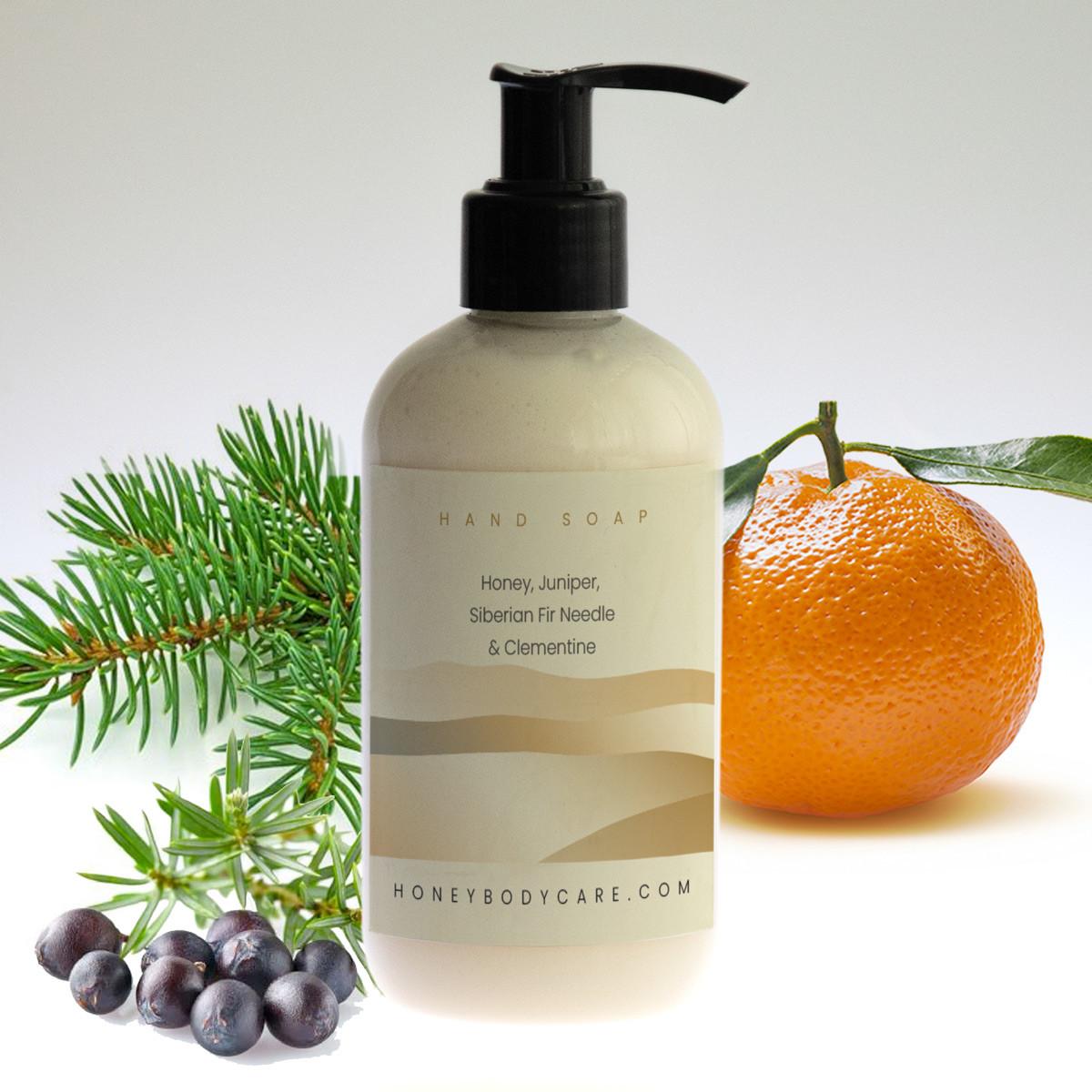 Hand wash Honey, Juniper, Siberian Fir Needle and Clementine